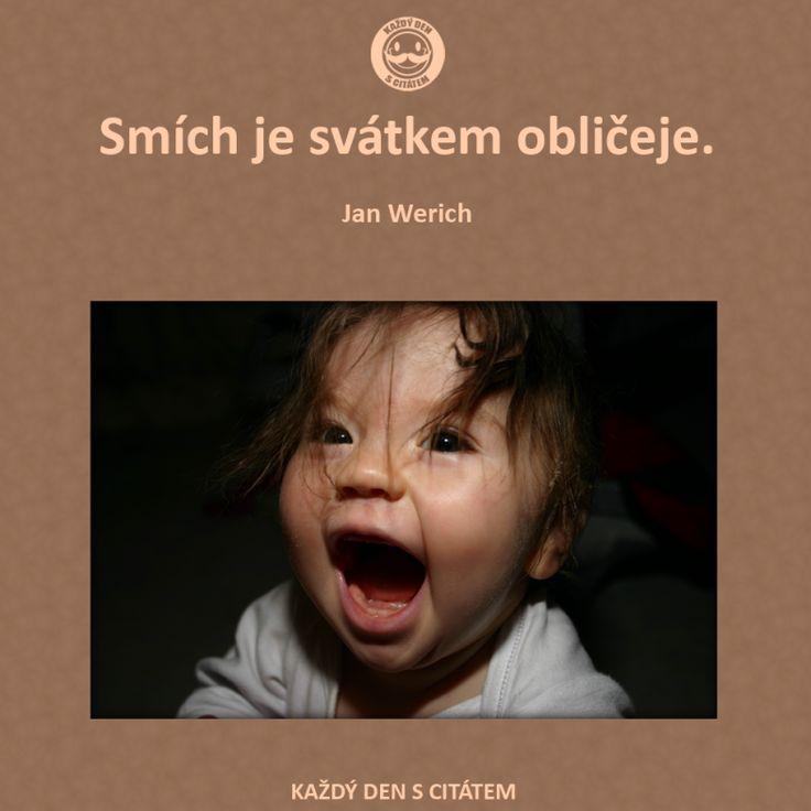 Smích je svátkem obličeje.  Jan Werich citáty