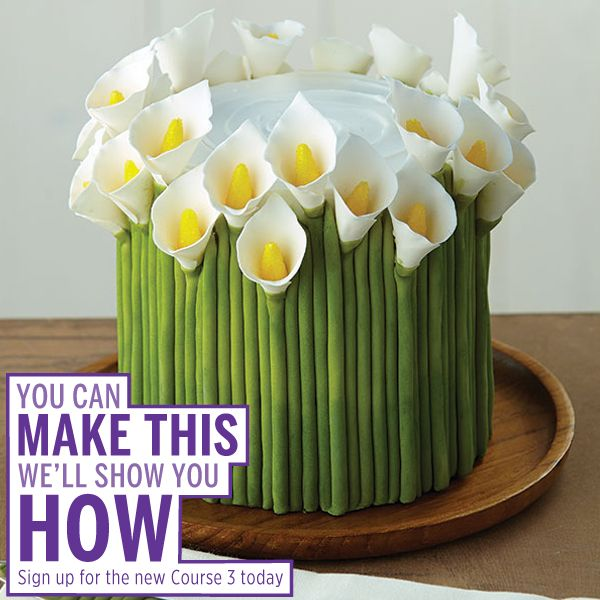 Learn how to make Calla Lilies in Course 3: Fondant and Gum Paste.