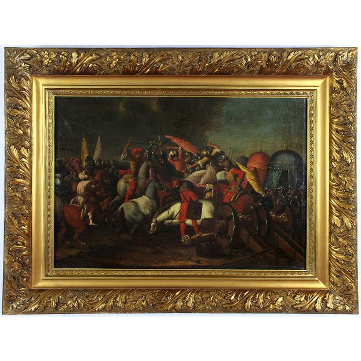 Ottoman Battle, 18th Century, oil on canvas