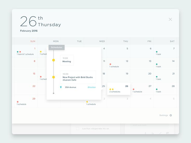Calendar section from the previous iPad app concept.  Check the Main Screen and don't forget to see @2x :D  Happy weekend, guys!  Cheers!