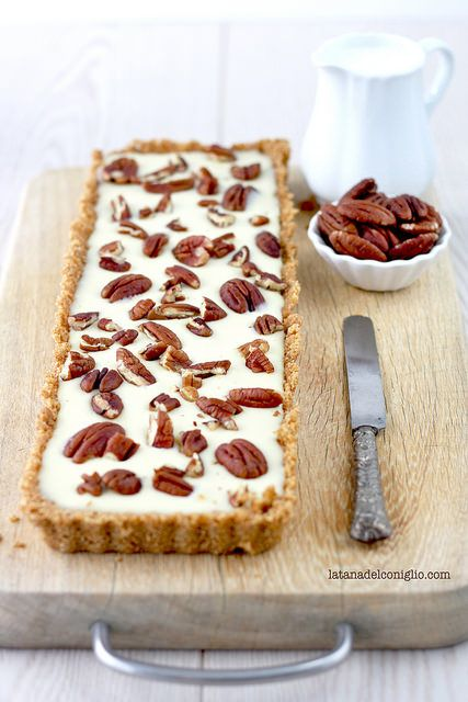 white chocolate  pecan nut tart