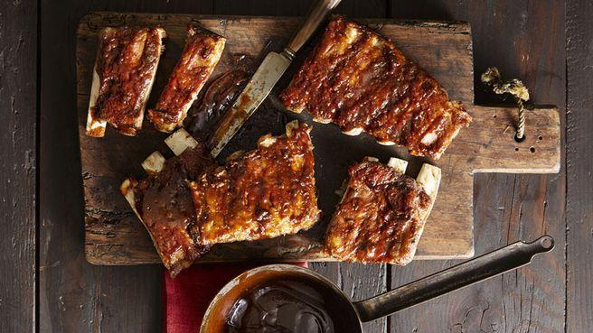 Sticky, smoky, fall-apart pork ribs
