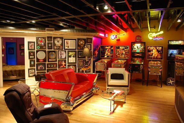 My Rock N Roll Loft Mancave Cool Stuff Man Cave