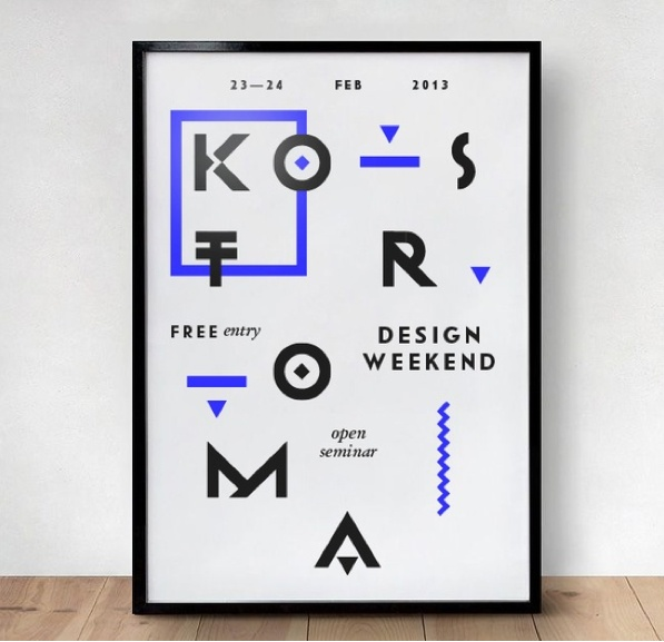 #graphic #design #poster #typography #grid