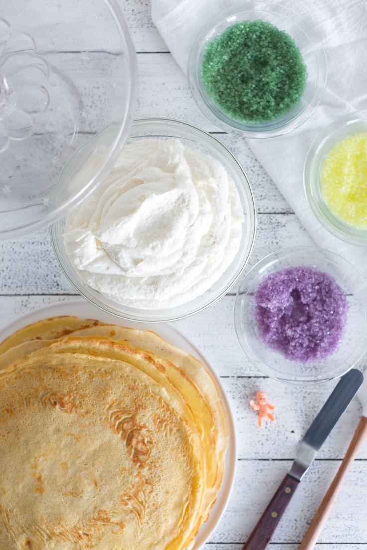 Ingredients for Crepe King Cake by Baking The Goods     @beckysuebakes     bakingthegoods.com