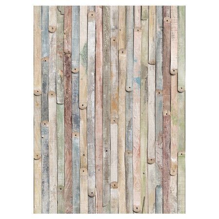 """4 Piece Vintage Wood Wall Mural, Reg $124.99, Now $73.00, 7/1/13; at Wayfair.   Product Details: (SKU #: BZH2905)  Material: Vinyl coated paper  Comes with 4 panel murals  Includes paste  Manufacturer provides 1 year warranty on manufacturing defects  Product weight: 3 lbs  Dimensions: 100"""" H x 72"""" W x 0.1"""" D"""