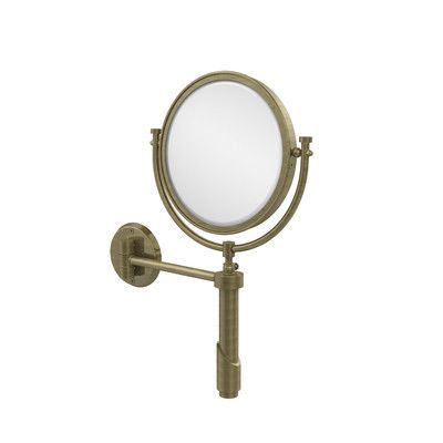 Allied Brass Universal Extendable Mirror Finish: Antique Brass, Magnification: 3x