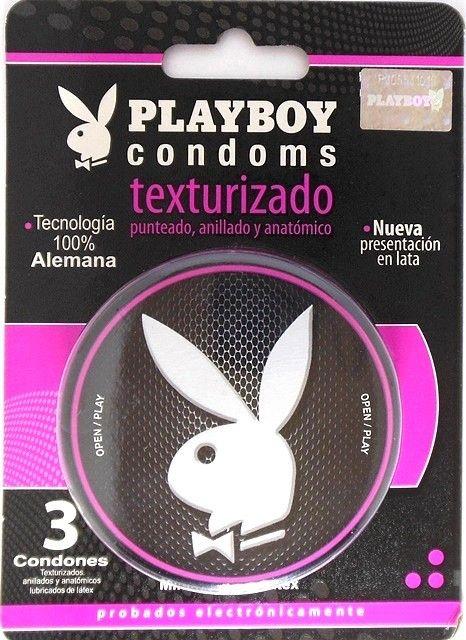 Condón masculino de hule látex natural Lubricados Con Receptáculo Color Natural Mínimo olor a látex Modelo Playboy Extra Sensible