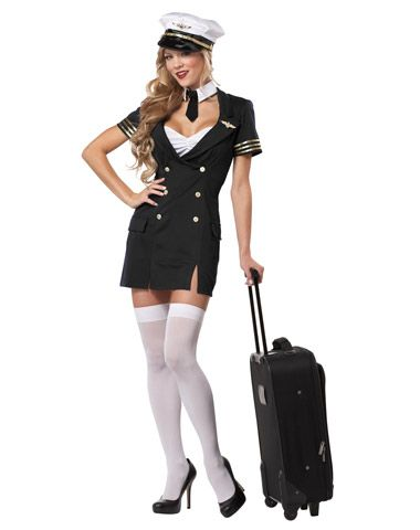 Ready For Takeoff Pilot Adult Womens Plus Size Costume