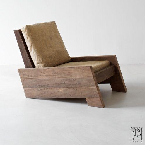 Solid Wooden Recliner.