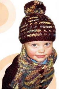 Клетчатая куртка для малыша вяжем