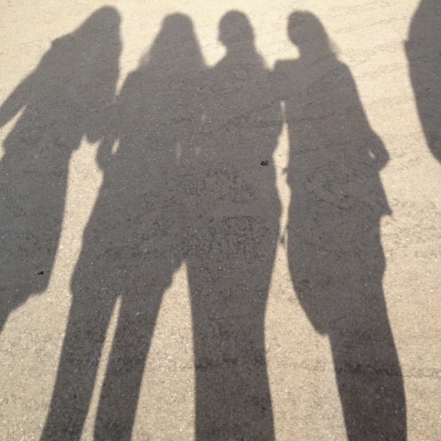 Shadows. Our four sisters