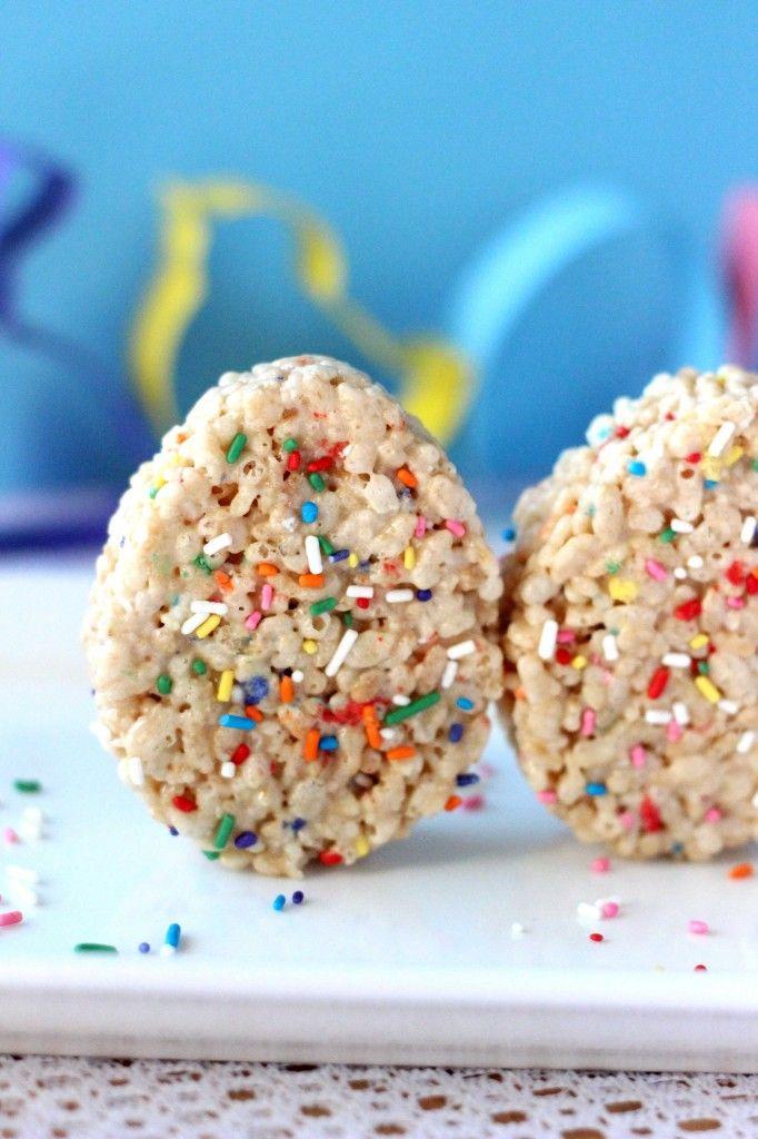 Easter Egg Cake Batter Rice Crispy Treats