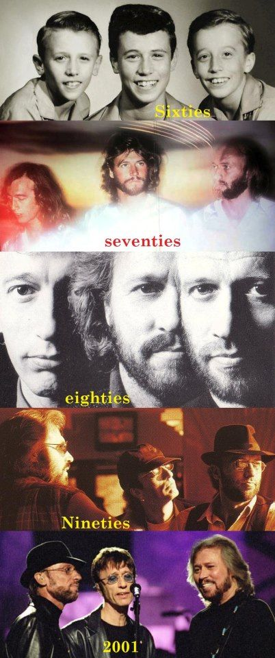 The Bee Gees in the 60's, 70's, 80's, 90's, 2000's.
