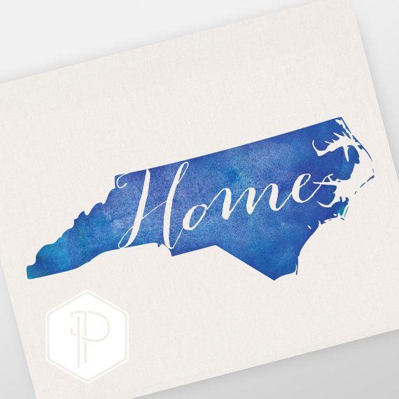 North Carolina Home 8x10 Print NC love Wall by PromisingPrints