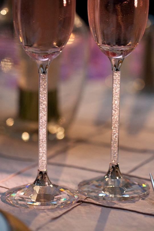 Reception Champagen Flutes swarovski cyrstal his & hers