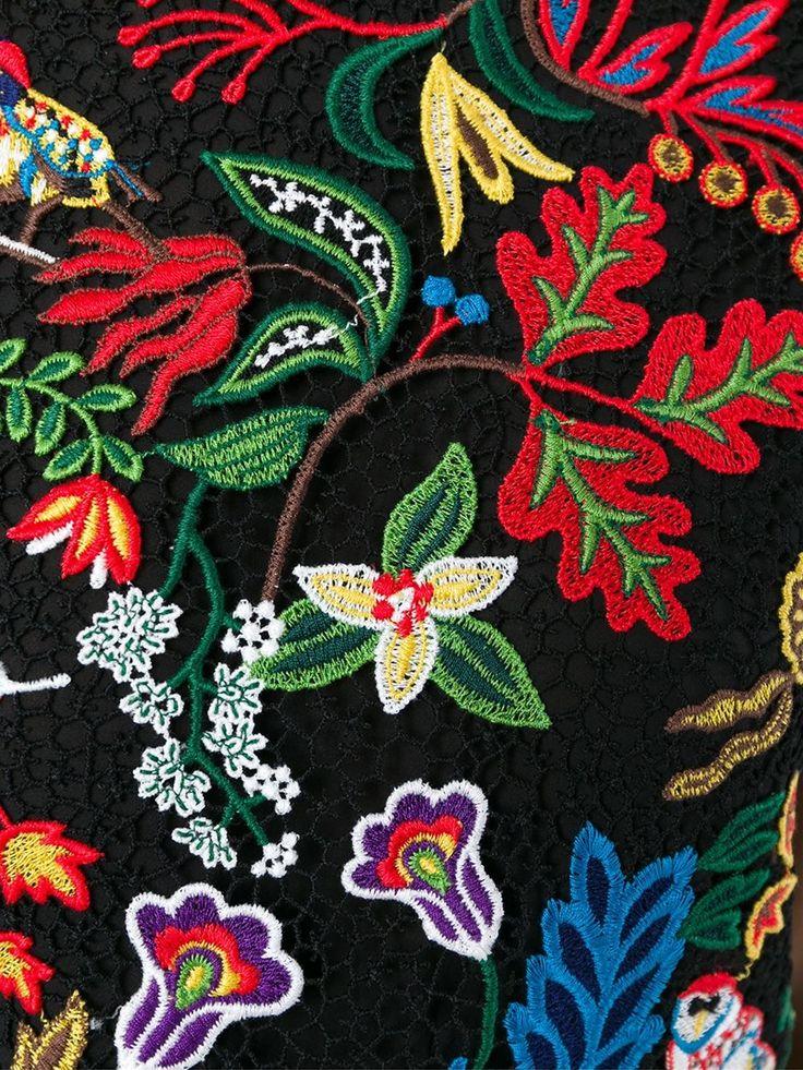 Valentino Blusa com bordado floral