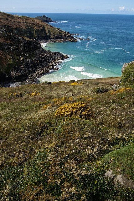 The north coast of Cornwall at Zennor, between St. Ives and Lands End