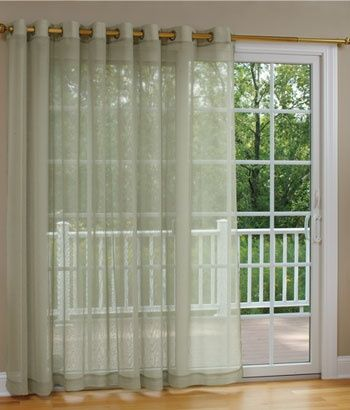 Sheer Patio Kitchen Sliding Door Curtain