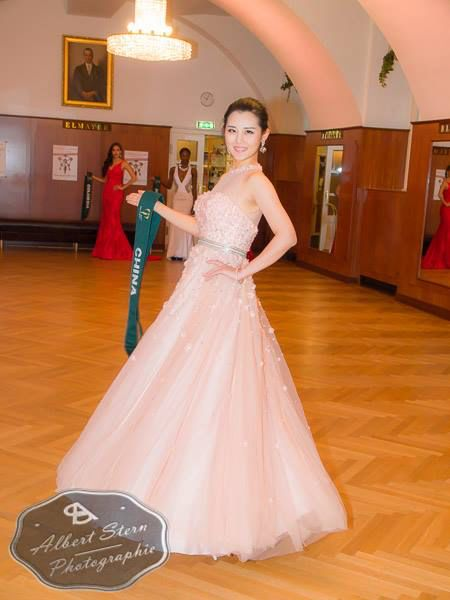 Miss China   posing during the evening gown parade as part of the activities of Miss Earth 2015 #Coverage #MissEarth2015 #BeautyPageant #Austria #ZarDeMisses #BeautiesForACause