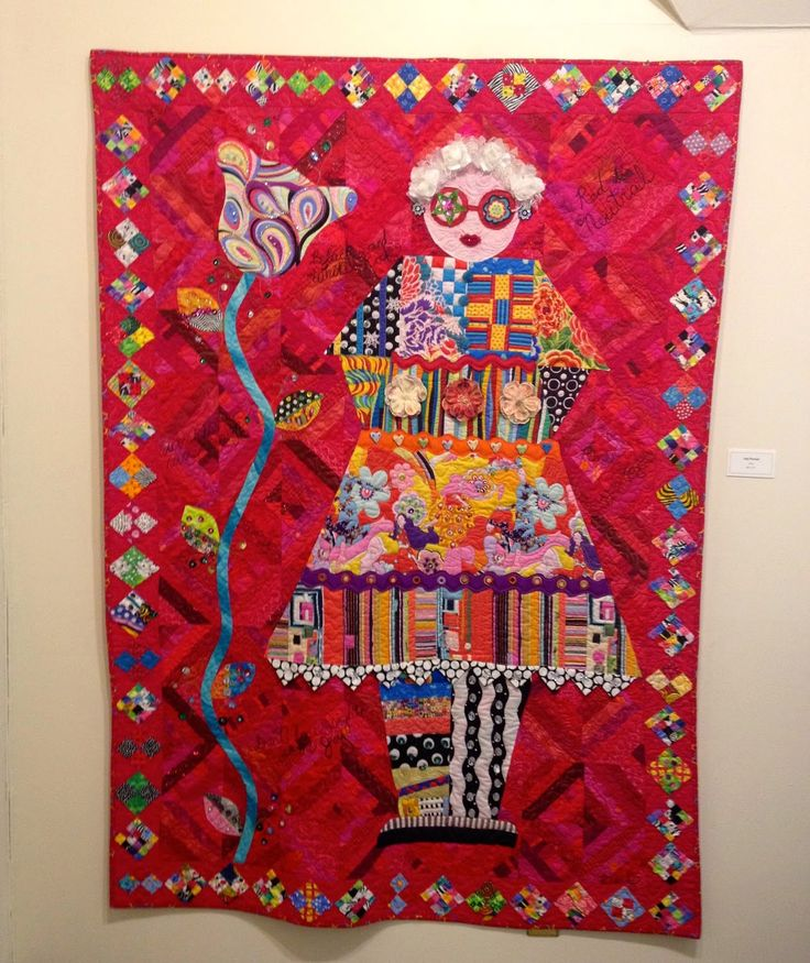 Freddy Moran collage quilt at La Conner Quilt Museum  nifty quilts: Feast for the Eyes