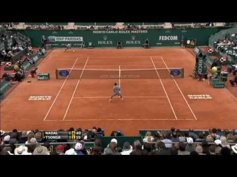 Nadal Unloads Hot Shot Forehand Past Tsonga