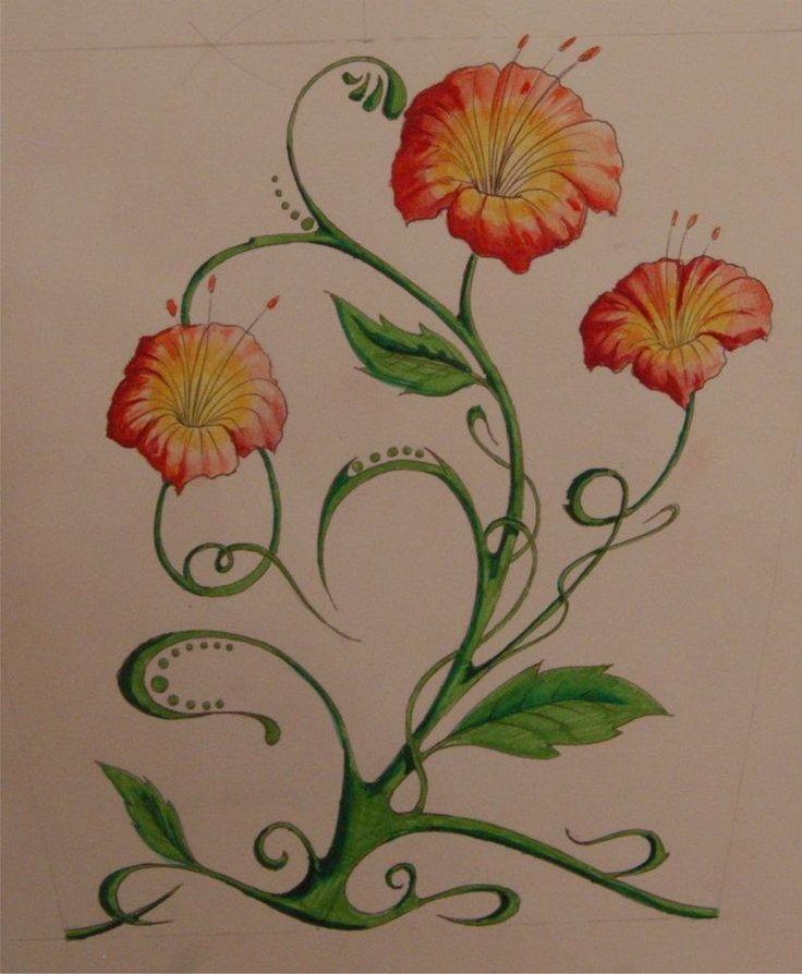 FLOWERS - looped tattoo project