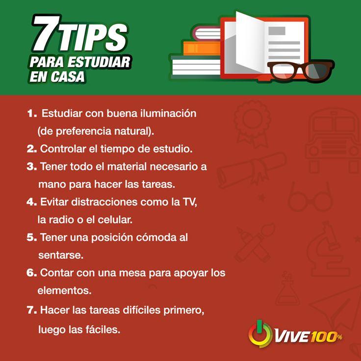 7 Tips para estudiar en casa.