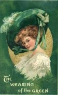 Free Vintage St. Patricks Day Greeting Cards: Pretty Women