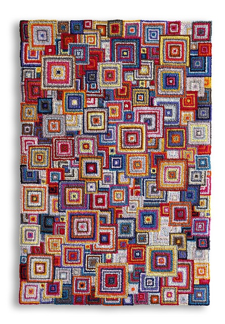 This is a latch hooked rug but you can also locker hook this design. Love it. …