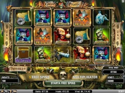 Ghost pirates slot, big bet, big win!