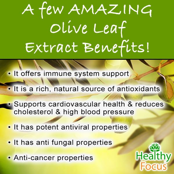 Olive Leaf extract can help with blood sugar, rosacea, blood pressure and acne. Some common sides are Rash,Herxheimer's Reaction, Dizziness and Diarrhea