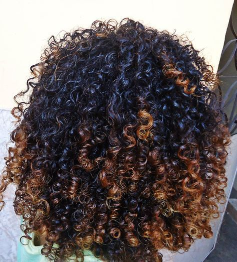 "naturalhairqueens: ""Her curls juicy af tho! Like if you squeezed one cocounut oil and blueberry juice would just come dripping out of it. """
