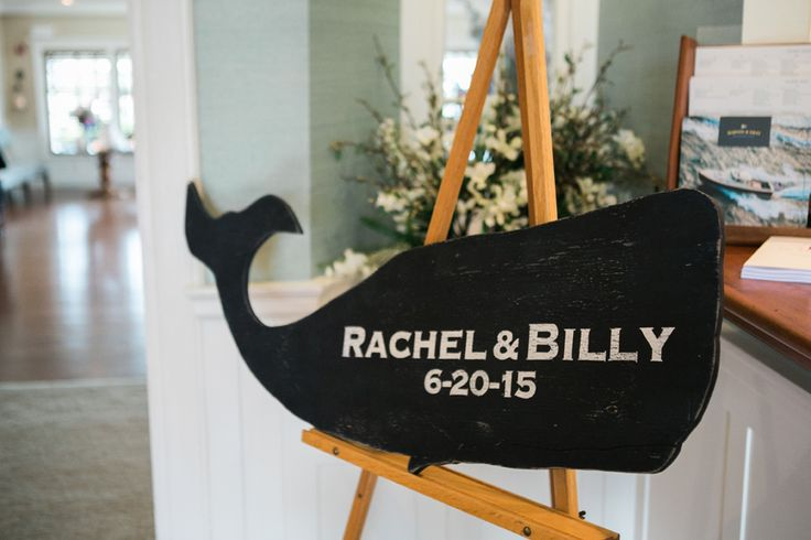Nantucket Whale Wedding Sign | photography by http://www.ariellephoto.com