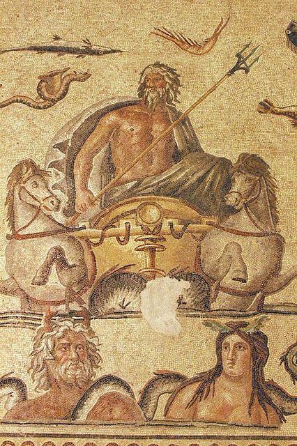 Poseidon Oceanus And Tethys Mosaic In 2019 Ancient Art