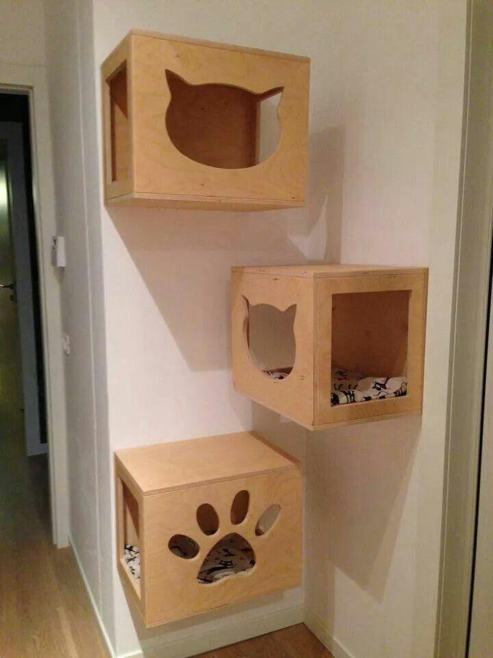 Parete attrezzata con cubotti Cat Wood Design