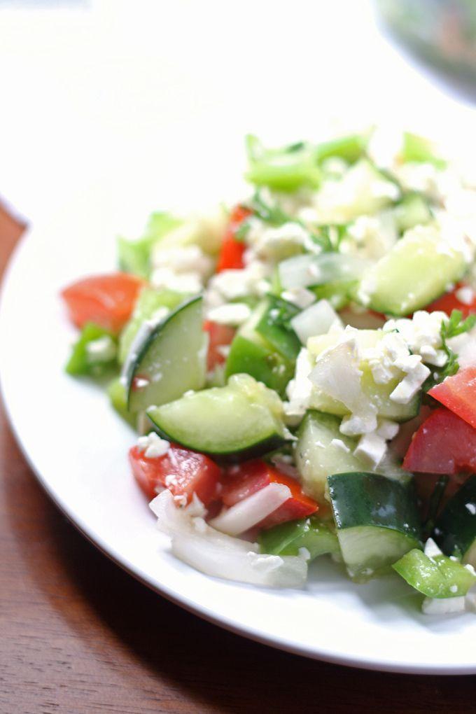 Shopska Salad recipe (Bulgarian Salad)   Honey and Birch
