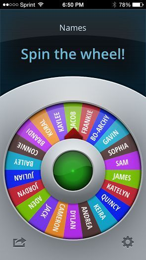Phone app spinner for choosing students. How cool! Turn it into a game.