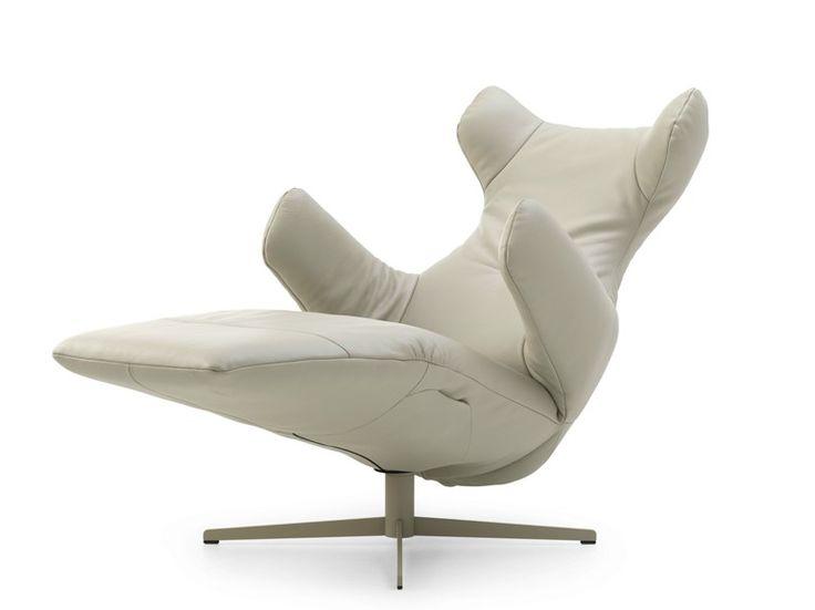 Poltrona reclinabile in pelle SAPHIRA by LEOLUX design Joachim Nees