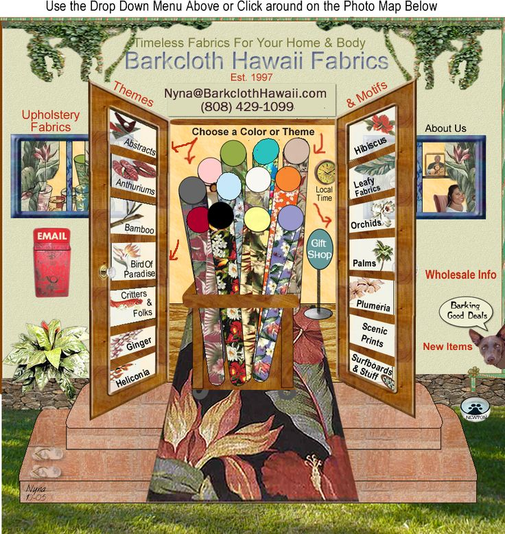 501 Best Images About Barkcloth Hawaii Fabrics On