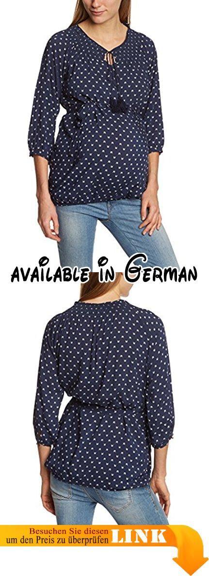 MAMALICIOUS Damen Regular Fit Umstands Bluse Mlone 3/4 Woven Top, Gr. 42 (Herstellergröße: XL), Schwarz (Black Iris). Süße 3/4 Arm - Umstandsbluse mit Punkten und Bindegürtel von MAMA.LICIOUS #Apparel #SHIRT