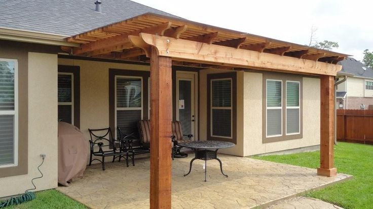 Rustic patio covers houston pergola in spring tx is for Rustic covered decks