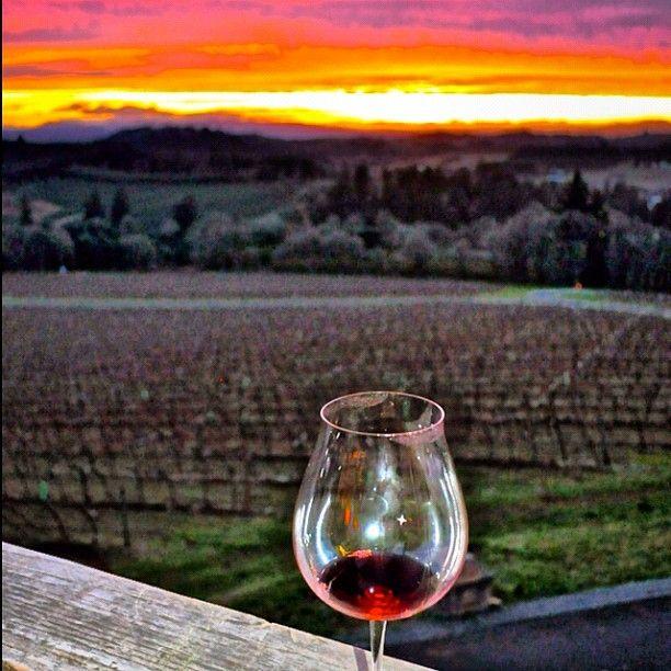 @WillametteValleyVineyards #Sunset last Saturday. #oregon #wine