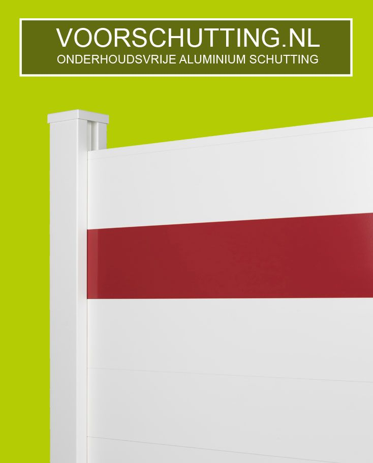 Aluminium Schutting Onderhoudsvrij, in elke lengtemaat & RAL kleur mogelijk. Montage indien gewenst. Voordeliger + duurzamer dan een betonnen schutting. Esthetisch fraaiste systeem en eenvoudige te monteren door uniek kliksysteem. Made in Holland !