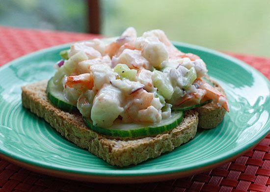 Shrimp Salad on Cucumber Slices | Recipe