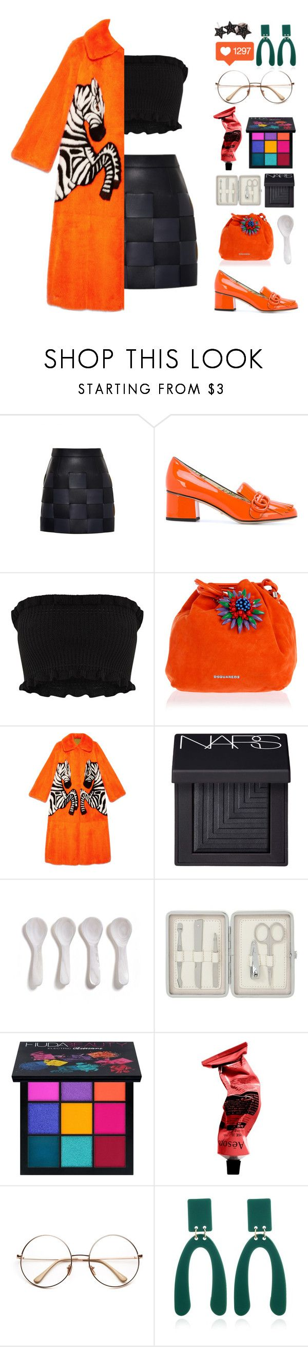 """""""I'll Decide When"""" by finding-0riginality ❤ liked on Polyvore featuring Marco de Vincenzo, Gucci, Dsquared2, NARS Cosmetics, John Lewis, Huda Beauty, Aesop and Alinka"""