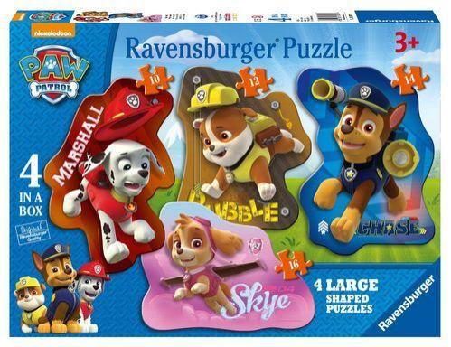 Puzzle Ravensburger 4en1 con forma de Paw Patrol La Patrulla Canina