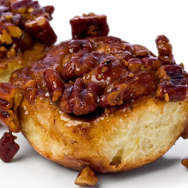 A sticky cinnamon bun recipe topped with pecans.. Pecan Sticky Buns Recipe from Grandmothers Kitchen.