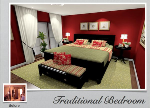 Master Bedroom Decorating Ideas Green Traditional Bedroom Decorating Picture Using 3d Design
