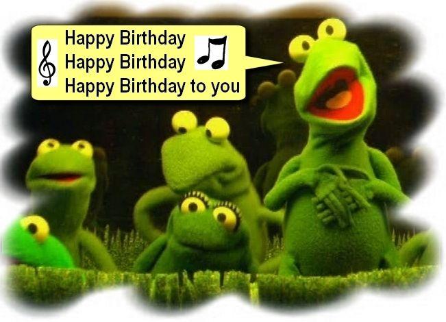 FROGS SINGING HAPPY BIRTHDAY